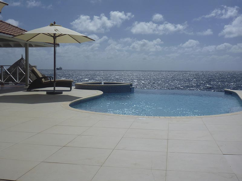 View on the upper strip Jan Thiel, Curacao