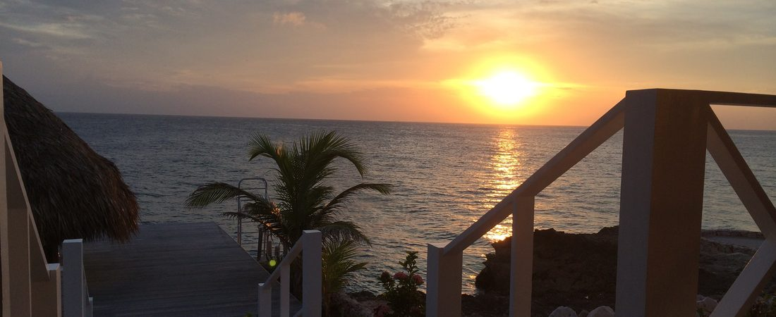 Awesome sunset at Villa Sea Paradise Curacao